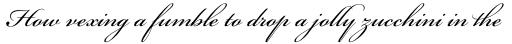 Bickham Script Pro Regular sample