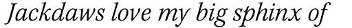 Kepler Std Caption SemiCond Light Italic sample