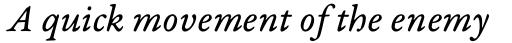 Garamond Premier Pro Italic Caption sample