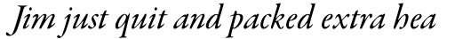 Garamond Premier Pro Medium Italic Subhead sample