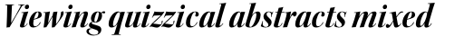 Kepler Std Display SemiCond Bold Italic sample