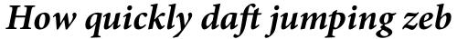 Minion Pro Bold Italic sample