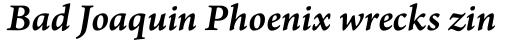 Arno Pro SmText Semibold Italic sample