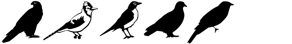 Click to view  Altemus Birds font, character set and sample text