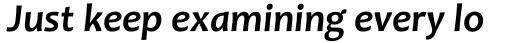 Candara Bold Italic sample
