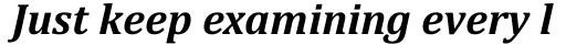 Cambria Bold Italic sample