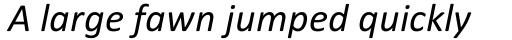 Calibri Italic sample