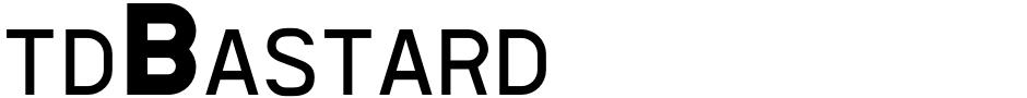 Click to view  tdBastard font, character set and sample text