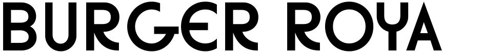 Click to view  Burger Royale JNL font, character set and sample text