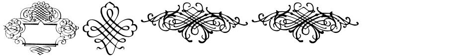 Click to view  CalligraphiaLatina font, character set and sample text
