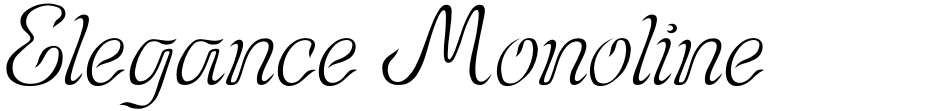 Click to view  Elegance Monoline font, character set and sample text