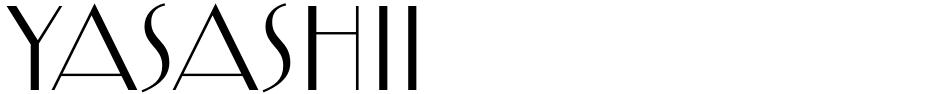 Click to view  Yasashii font, character set and sample text
