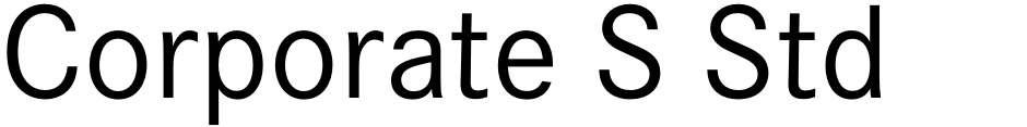 Click to view  Corporate S Std font, character set and sample text