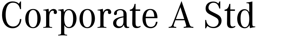 Click to view  Corporate A Std font, character set and sample text