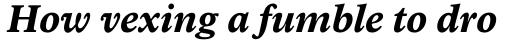 Arbesco DT Bold Italic sample