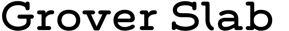 Click to view  Grover Slab font, character set and sample text