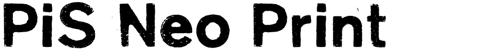 Click to view  PiS Neo Print M319 font, character set and sample text