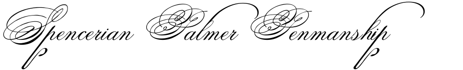 Click to view  Spencerian Palmer Penmanship font, character set and sample text