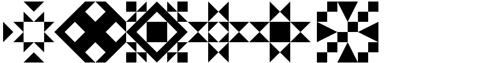 Click to view  Quilt Patterns Two font, character set and sample text