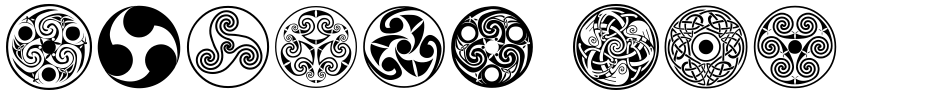 Click to view  Celtic Ornaments BA font, character set and sample text