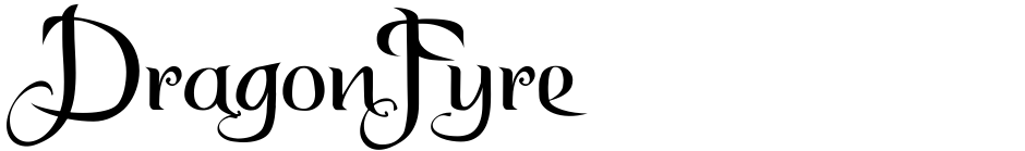Click to view  DragonFyre font, character set and sample text
