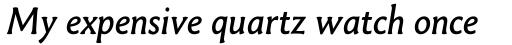 Paradigm Italic sample