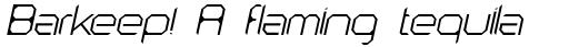 AstroNaut Thin Italic sample