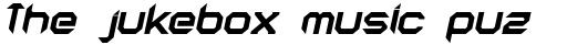 AstroNaut Bold Italic sample