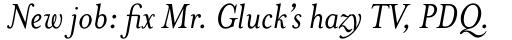 Mrs Eaves Italic sample