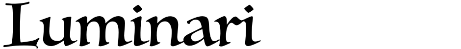 Click to view  Luminari font, character set and sample text