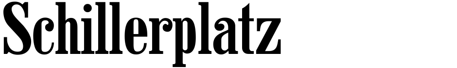 Click to view  Schillerplatz font, character set and sample text
