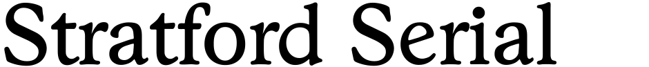 Click to view  Stratford Serial font, character set and sample text