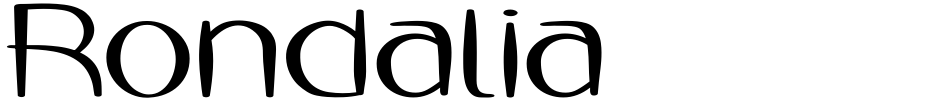 Click to view  Rondalia font, character set and sample text
