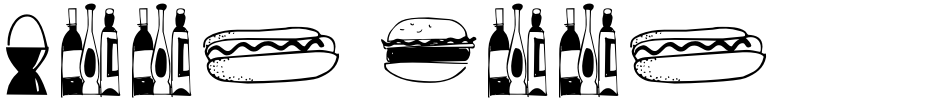 Click to view  Food Doodles Too font, character set and sample text