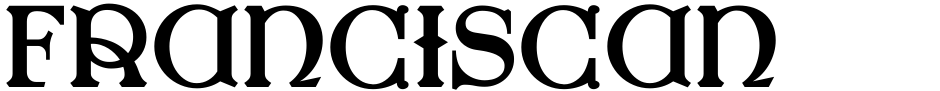 Click to view  Franciscan Caps NF font, character set and sample text