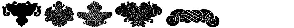 Click to view  BlackOrnaments font, character set and sample text