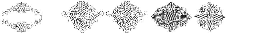 Click to view  CalligraphiaLatinaSquareEdition font, character set and sample text