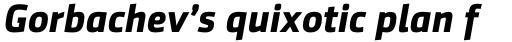 Sentico Sans DT Bold Italic sample