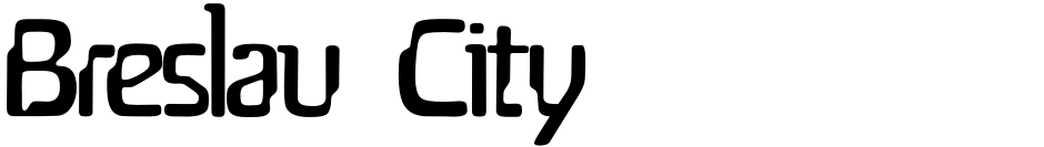 Click to view  Breslau  City font, character set and sample text