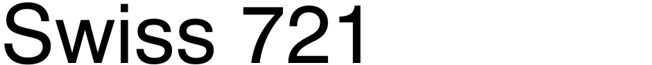 Click to view  Swiss 721 font, character set and sample text