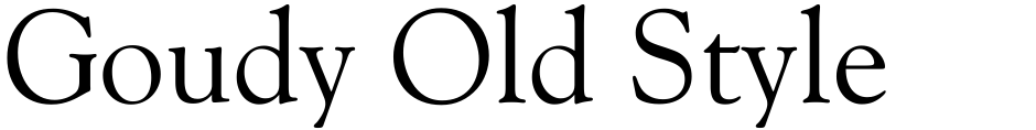 Click to view  Goudy Old Style font, character set and sample text