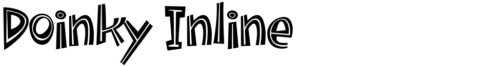 Click to view  Doinky Inline font, character set and sample text
