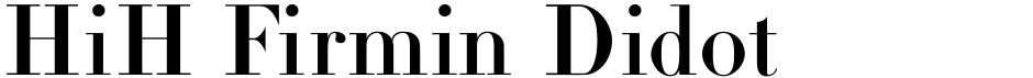 Click to view  HiH Firmin Didot font, character set and sample text