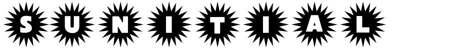 Click to view  Sunitials JNL font, character set and sample text