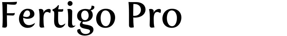 Click to view  Fertigo Pro font, character set and sample text