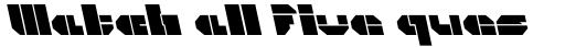 CorTen Open Fat A Italic sample