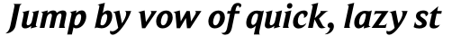 Beaufort Pro Bold Italic sample
