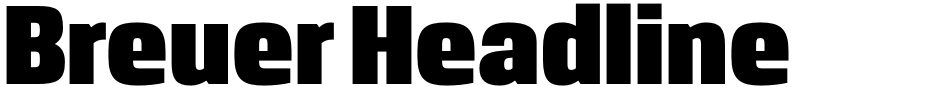 Click to view  Breuer Headline font, character set and sample text