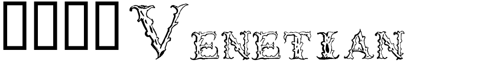 Click to view  1565 Venetian font, character set and sample text