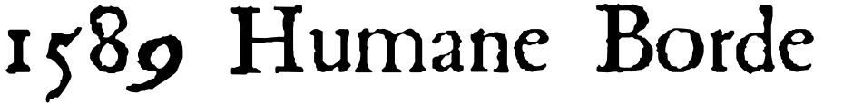 Click to view  1589 Humane Bordeaux font, character set and sample text